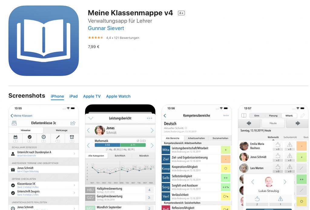 Apps für Lehrer: Meine Klassenmappe
