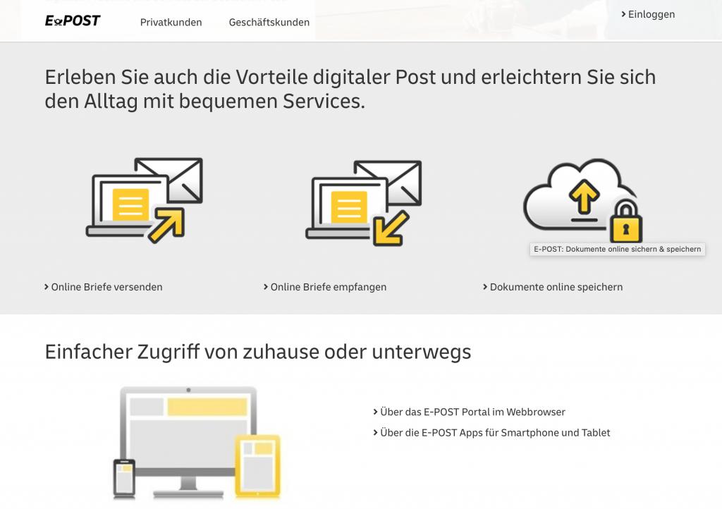 Apps für Lehrer: E-Post Cloud