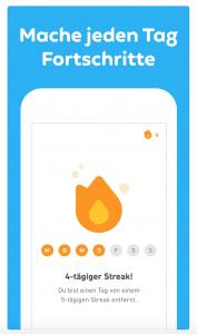 Beste Sprachen App: Duolingo, jeden Tag besser werden.