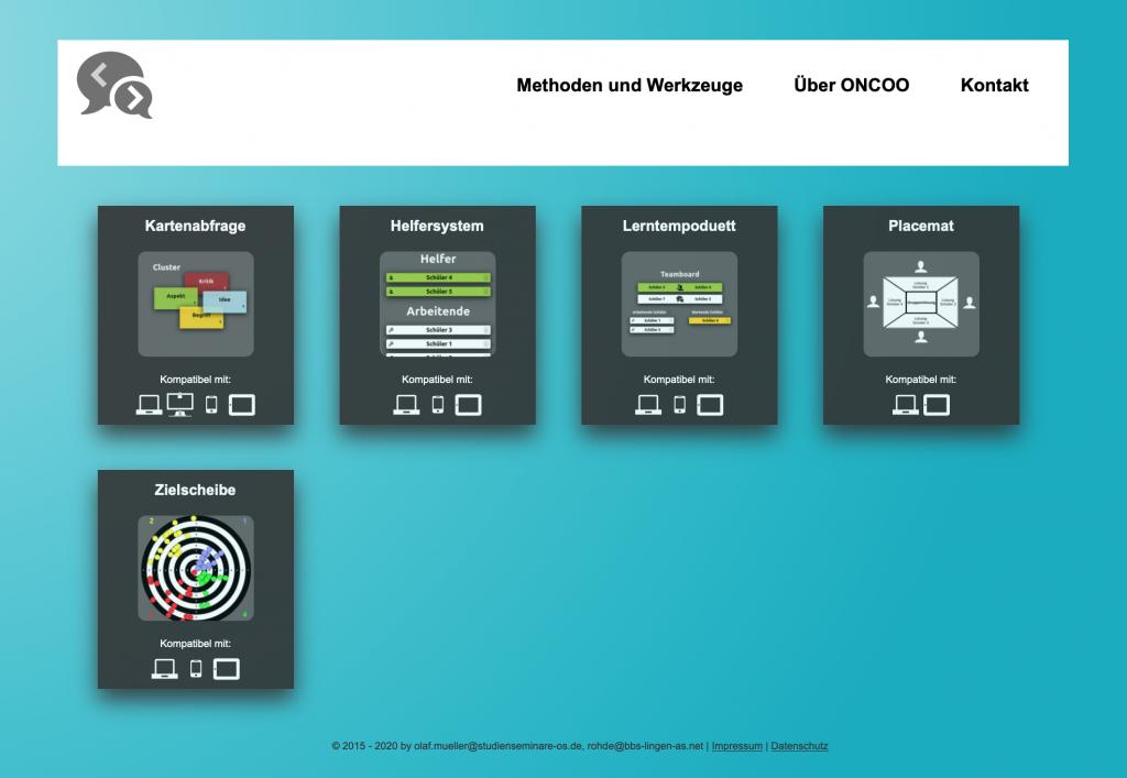 Mit dem iPad unterrichten: Bei Oncoo.de gibt es mehrer Methoden.