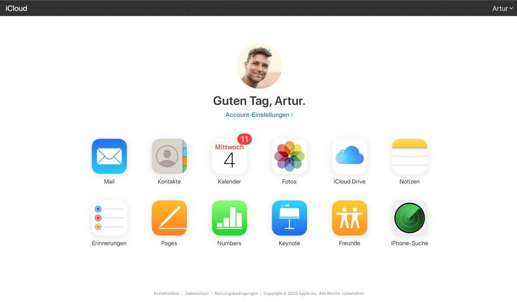 Mit dem iPad im Unterricht: Arbeite auch an einem PC weiter, indem du dich auf iCloud.com anmeldest.